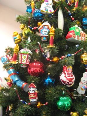 Новогодняя елка в ретро