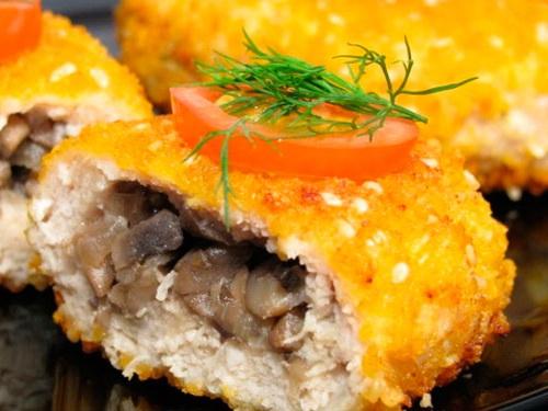 Постные картофельные котлеты с грибами рецепт2