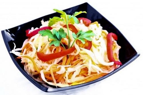 Постный капустный салат по-корейски