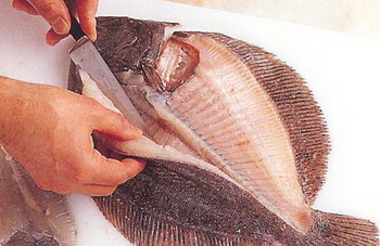 Почистить морской язык