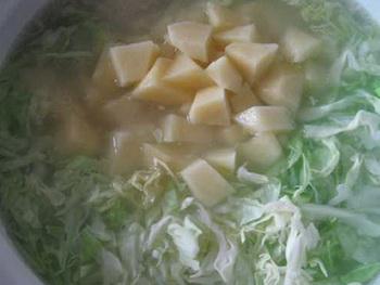картошка и капуста