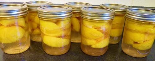 персики с лимоном
