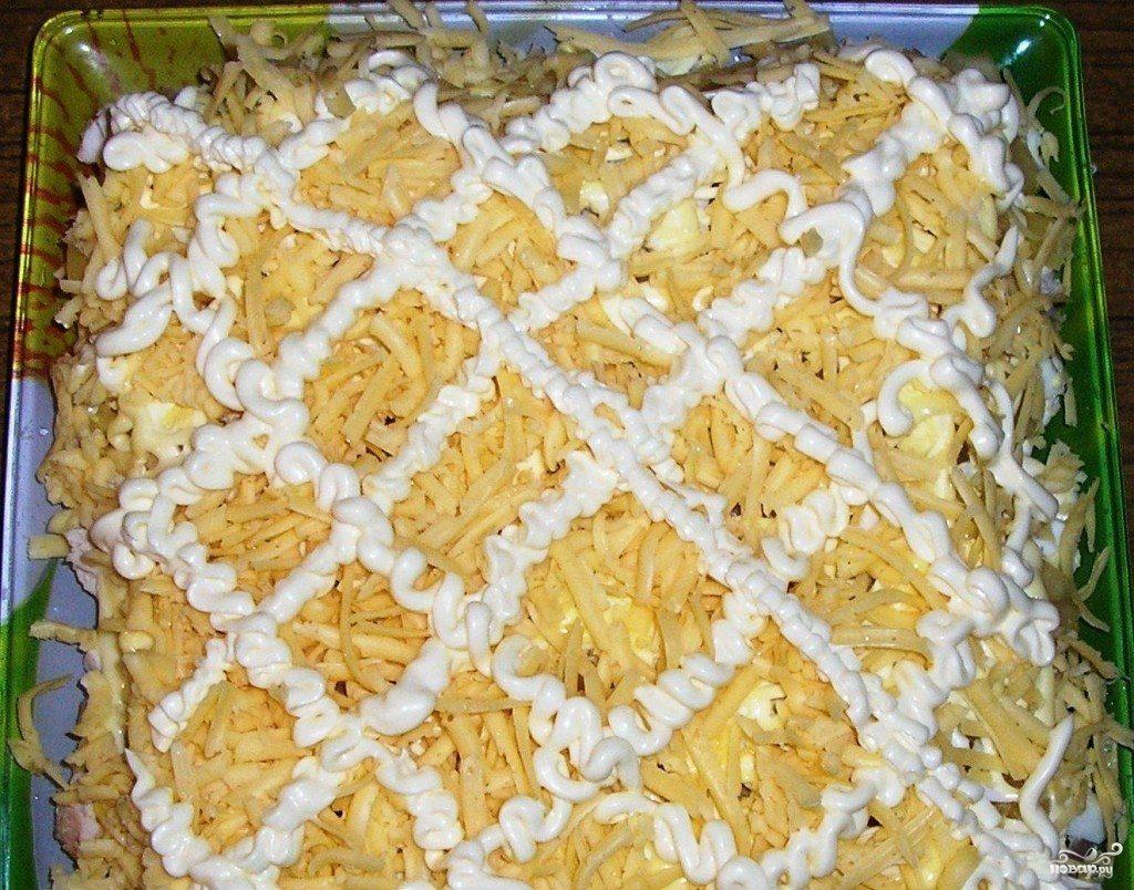 слой сыра в салате