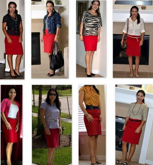 Красная юбка и модные тенденции