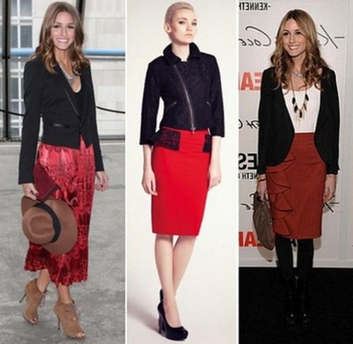 Фасоны красных юбок