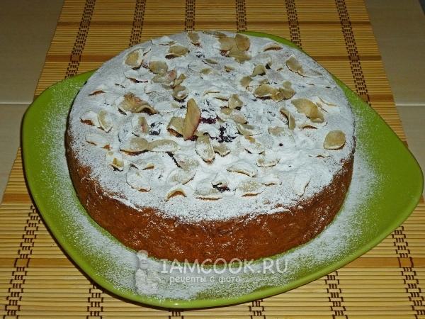 готовый пирог с вишней венский