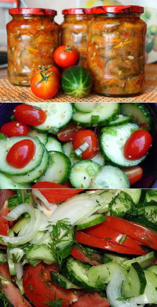 салат из огурцов и помидоров