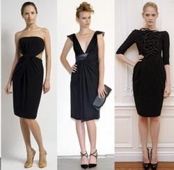 Черное платье: как выбрать, с чем носить