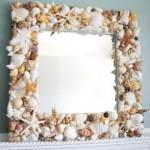 Как украсить зеркало своими руками ракушками