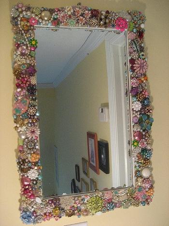 Как украсить зеркало самостоятельно