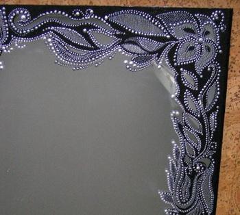 Как оригинально украсить зеркало своими руками