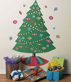 Christmas Tree Wallpaper for Kids Bedroom Before the New Year