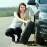 Лопнула шина автомобиля
