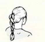 """Прическа """"Коса в виде жгута"""""""