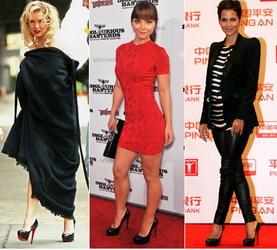 С чем носить черные туфли с красной подошвой