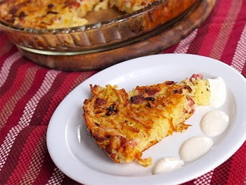 Запеканка из тыквы, картофеля