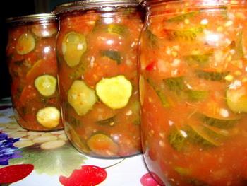 Сатал с огурцами и помидорами